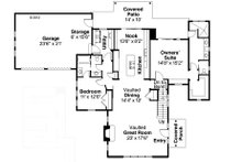 Farmhouse Floor Plan - Main Floor Plan Plan #124-901
