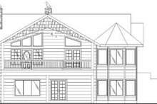 House Plan Design - Traditional Exterior - Rear Elevation Plan #117-332