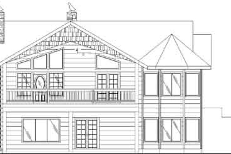 Traditional Exterior - Rear Elevation Plan #117-332 - Houseplans.com