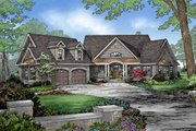 European Style House Plan - 4 Beds 3 Baths 2950 Sq/Ft Plan #929-29 Exterior - Front Elevation