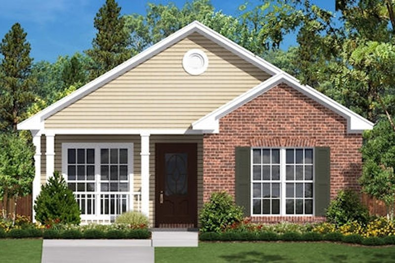 Traditional Style House Plan - 2 Beds 1 Baths 850 Sq/Ft Plan #430-1 Exterior - Front Elevation