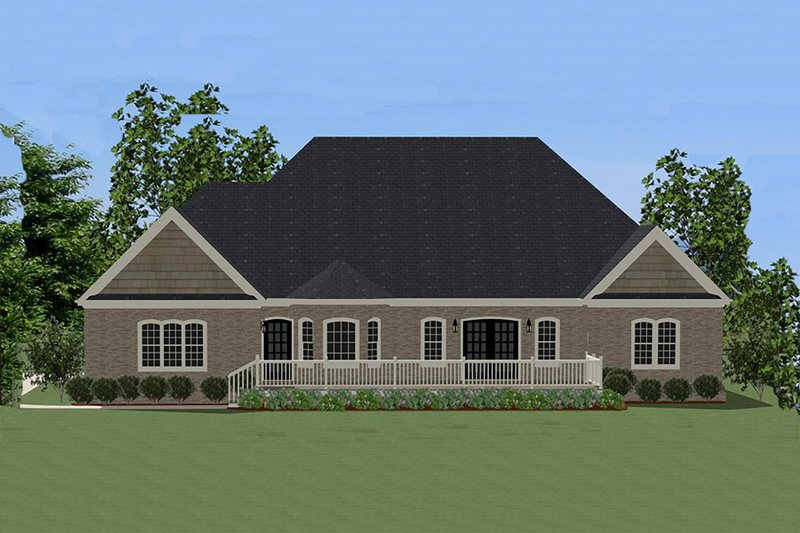 Traditional Exterior - Rear Elevation Plan #898-14 - Houseplans.com