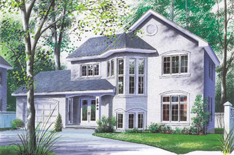 Dream House Plan - Traditional Exterior - Front Elevation Plan #23-2129