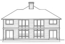 House Plan Design - Traditional Exterior - Rear Elevation Plan #92-203