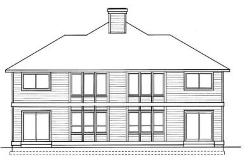Traditional Exterior - Rear Elevation Plan #92-203 - Houseplans.com