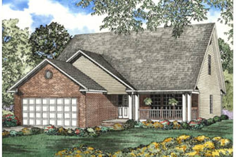 Home Plan - Traditional Exterior - Front Elevation Plan #17-2070
