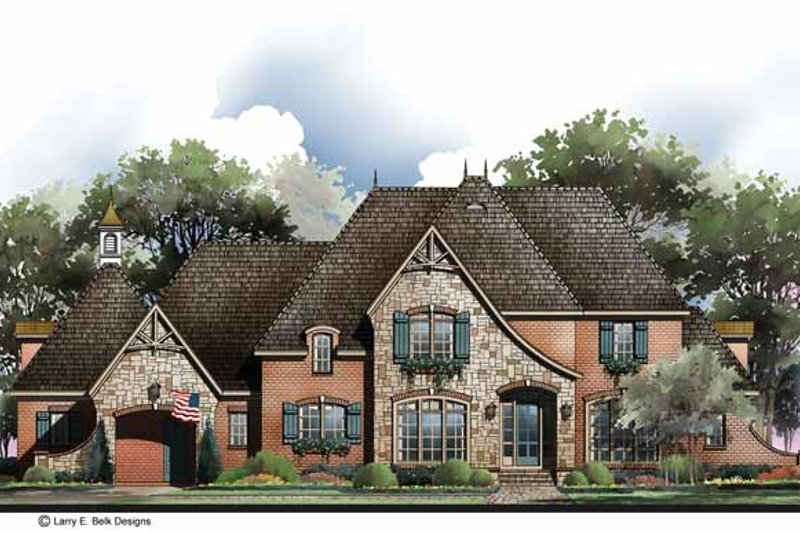 Architectural House Design - Country Exterior - Front Elevation Plan #952-283