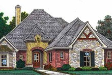 Country Exterior - Front Elevation Plan #310-1251