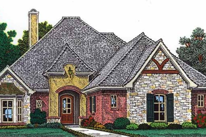 Architectural House Design - Country Exterior - Front Elevation Plan #310-1251