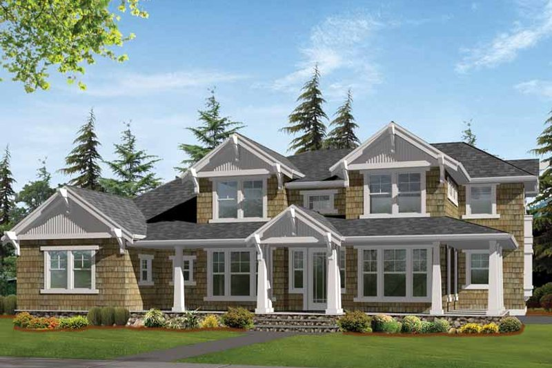 Craftsman Exterior - Front Elevation Plan #132-468 - Houseplans.com