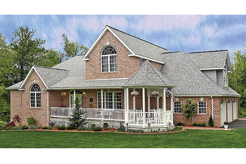 Traditional Exterior - Front Elevation Plan #314-277 - Houseplans.com