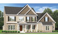 Colonial Exterior - Front Elevation Plan #1010-48