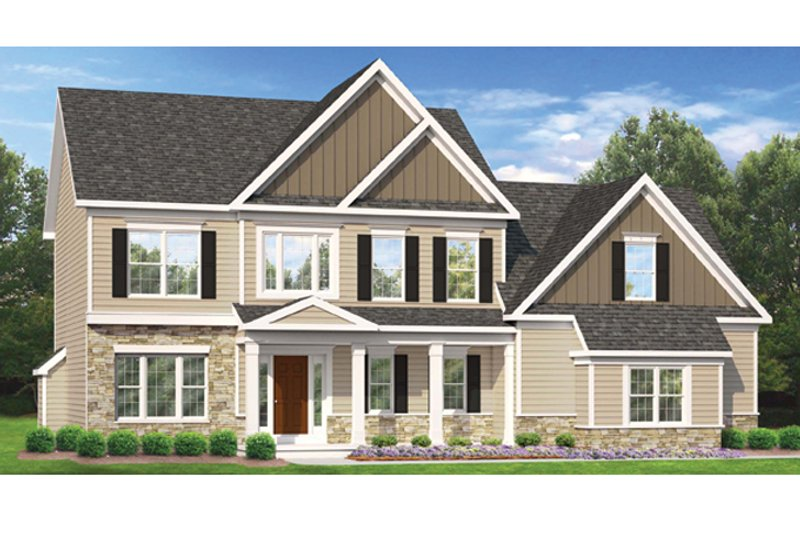 House Plan Design - Colonial Exterior - Front Elevation Plan #1010-48