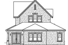 European Exterior - Rear Elevation Plan #23-398