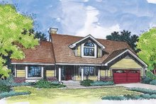 Country Exterior - Front Elevation Plan #320-558