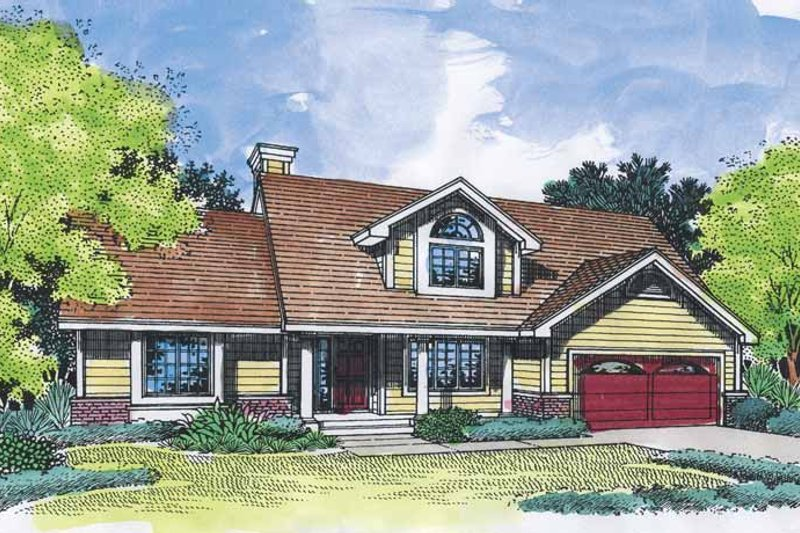 Country Exterior - Front Elevation Plan #320-558 - Houseplans.com