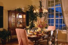 Architectural House Design - Mediterranean Interior - Dining Room Plan #930-326