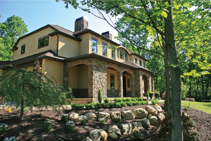 Prairie Exterior - Front Elevation Plan #928-248 - Houseplans.com
