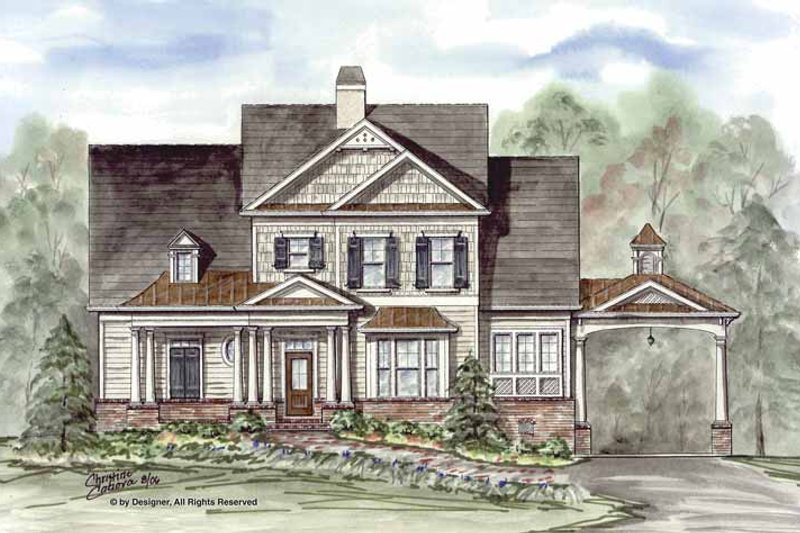Craftsman Exterior - Front Elevation Plan #54-311