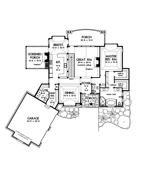 European Floor Plan - Main Floor Plan Plan #929-901