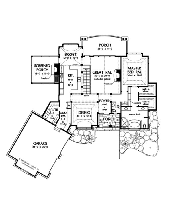 European Floor Plan - Main Floor Plan Plan #929-901