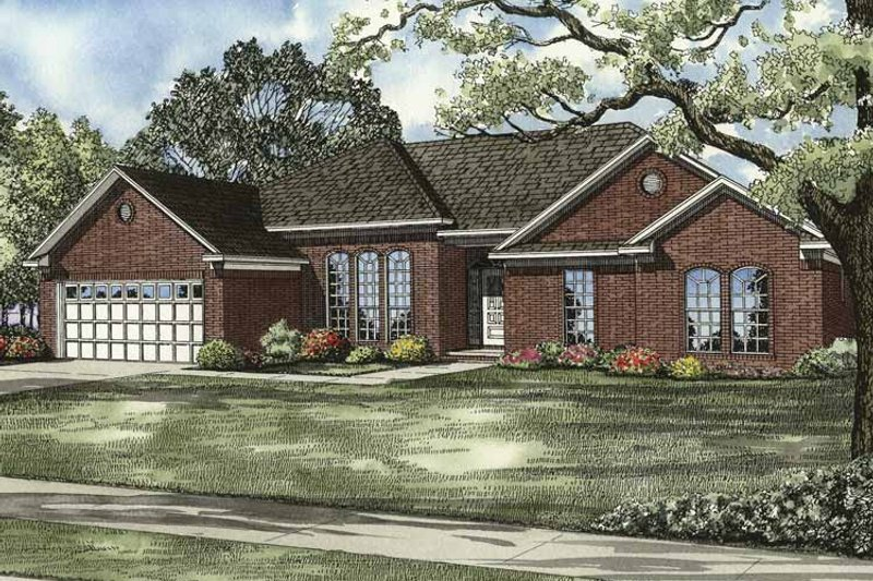 Ranch Exterior - Front Elevation Plan #17-3094 - Houseplans.com