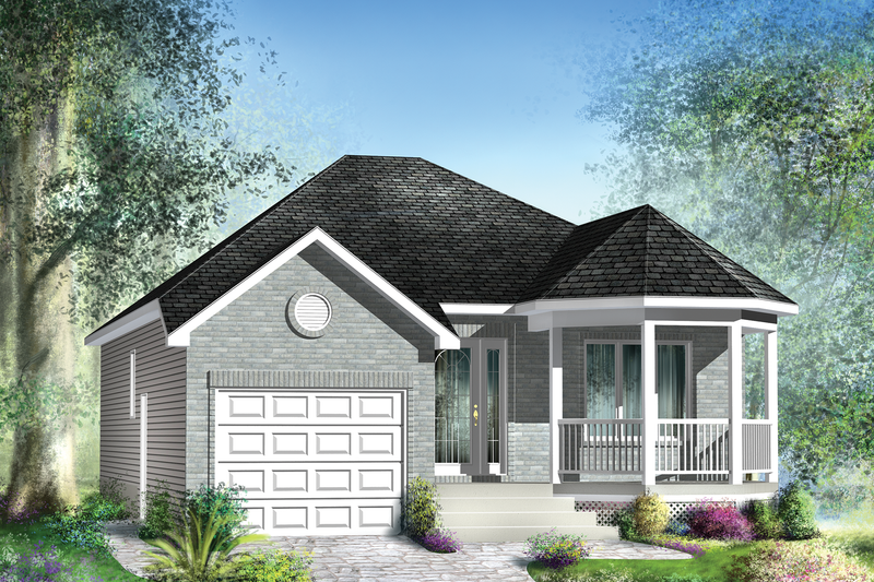Classical Style House Plan - 2 Beds 1 Baths 988 Sq/Ft Plan #25-4536 Exterior - Front Elevation