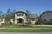 Contemporary Style House Plan - 4 Beds 4 Baths 6075 Sq/Ft Plan #928-67 Exterior - Front Elevation