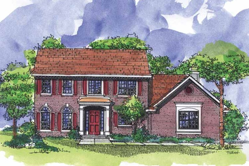 Colonial Exterior - Front Elevation Plan #320-920