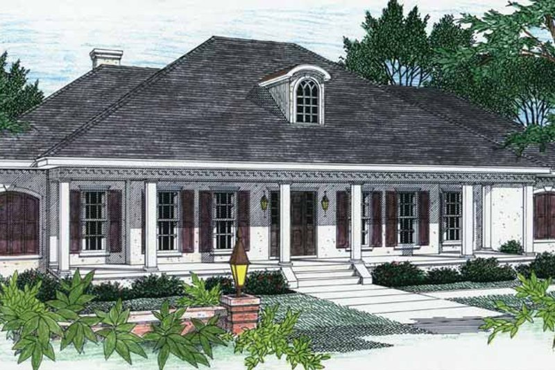 House Plan Design - Country Exterior - Front Elevation Plan #44-202