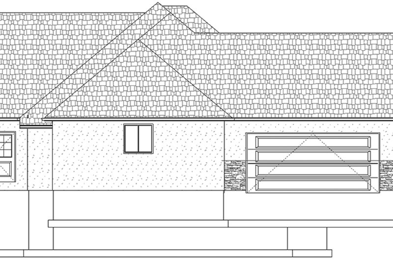 Ranch Exterior - Other Elevation Plan #1060-26 - Houseplans.com