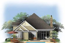 Craftsman Exterior - Rear Elevation Plan #929-846
