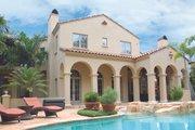 Mediterranean Style House Plan - 5 Beds 5 Baths 7363 Sq/Ft Plan #1058-19 Exterior - Rear Elevation