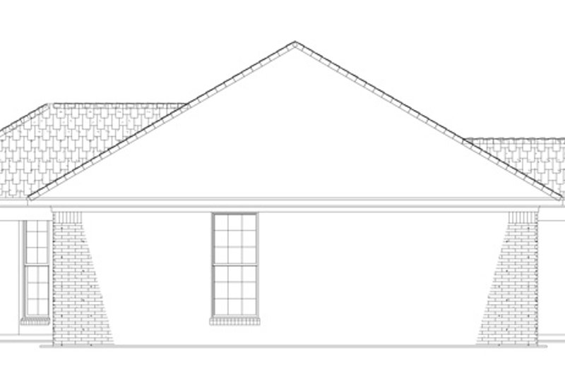 Colonial Exterior - Other Elevation Plan #17-3129 - Houseplans.com