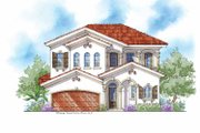 Mediterranean Style House Plan - 4 Beds 3.5 Baths 3225 Sq/Ft Plan #938-25 Exterior - Front Elevation