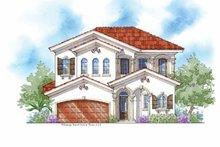House Plan Design - Mediterranean Exterior - Front Elevation Plan #938-25