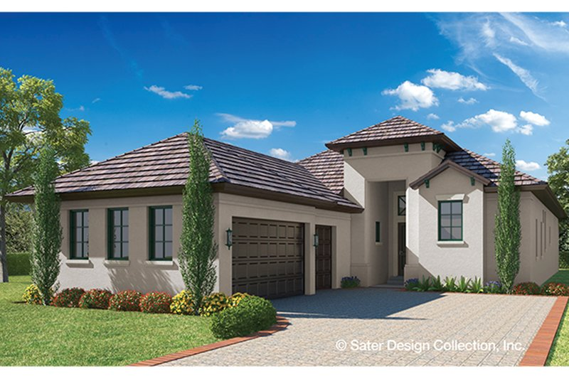 European Exterior - Front Elevation Plan #930-459