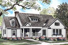 Colonial Exterior - Front Elevation Plan #17-2973