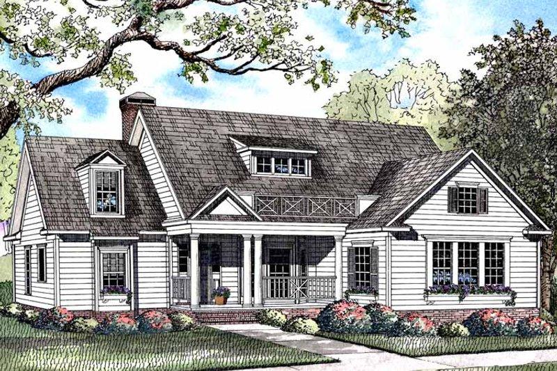 Colonial Exterior - Front Elevation Plan #17-2973 - Houseplans.com