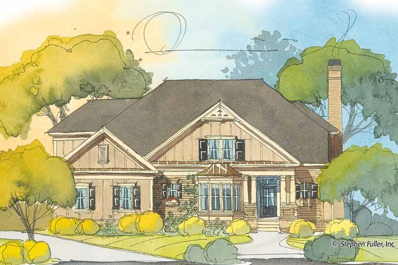 Country Exterior - Front Elevation Plan #429-386 - Houseplans.com