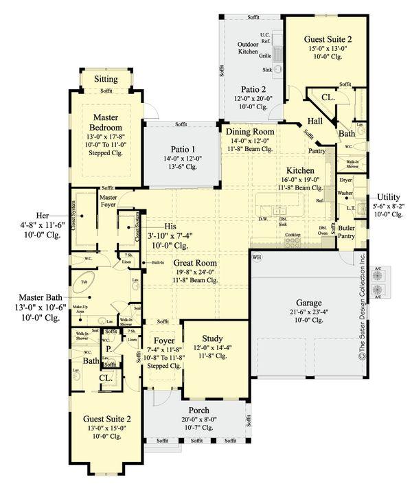 House Plan Design - Ranch Floor Plan - Main Floor Plan #930-470
