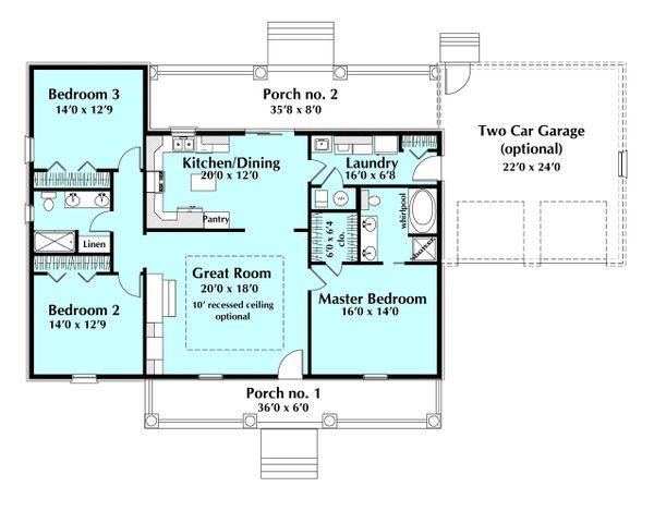 Ranch Floor Plan - Main Floor Plan Plan #44-171