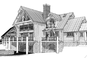 Log Style House Plan - 4 Beds 4.5 Baths 7819 Sq/Ft Plan #451-3 Exterior - Other Elevation