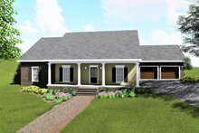 Ranch Exterior - Front Elevation Plan #44-169