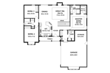 Ranch Floor Plan - Main Floor Plan Plan #1010-190