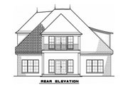 European Style House Plan - 4 Beds 3 Baths 3012 Sq/Ft Plan #923-57 Exterior - Rear Elevation