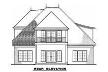 European Exterior - Rear Elevation Plan #923-57
