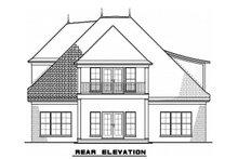 House Plan Design - European Exterior - Rear Elevation Plan #923-57