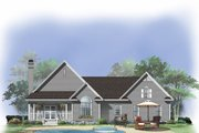 Country Style House Plan - 3 Beds 2 Baths 1469 Sq/Ft Plan #929-475 Exterior - Rear Elevation