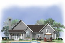 Dream House Plan - Country Exterior - Rear Elevation Plan #929-475